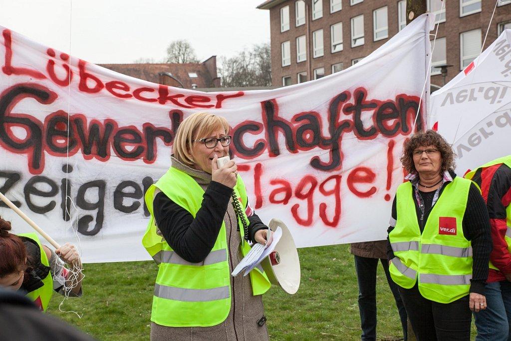 Protest gegen G7 Aussenministertreffen in Lübeck