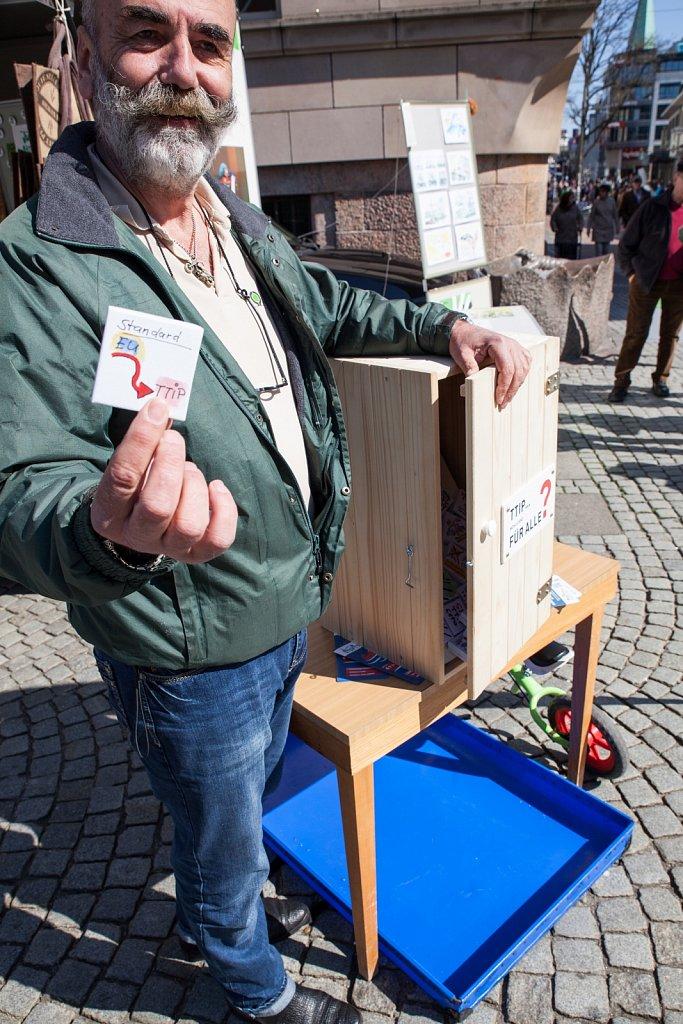 Aktionstag gegen TTIP in Kiel am 18.4.2015