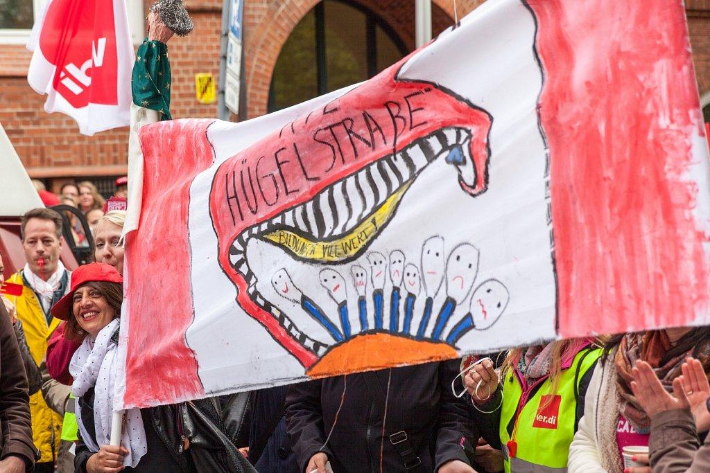 1. Streiktag der Sozial- und Erziehungsdienste in Kiel