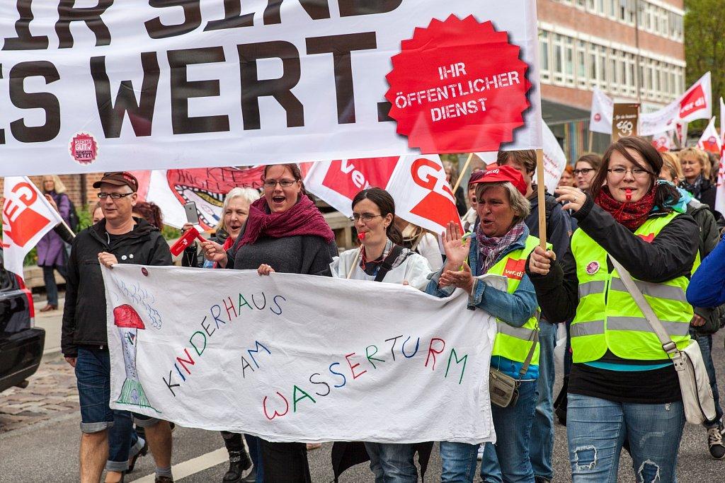 Streik der Sozial- und Erziehungsdienste in Kiel
