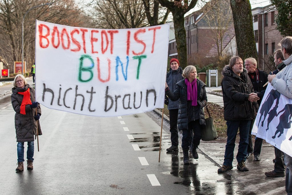 Protest in Boostedt