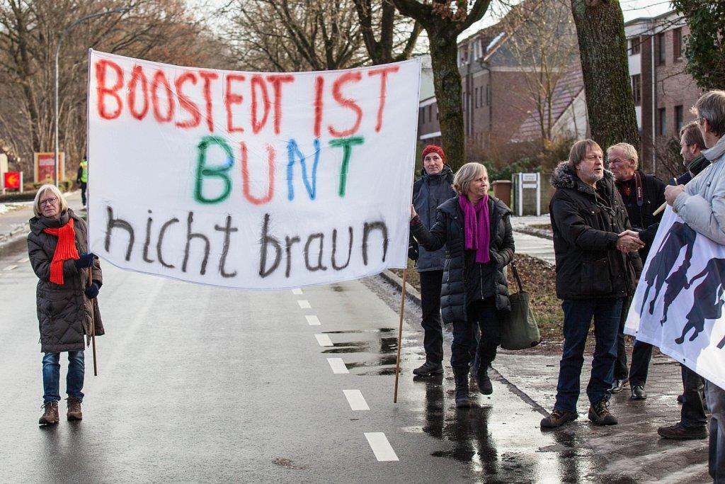 Demonstration gegen Nazis