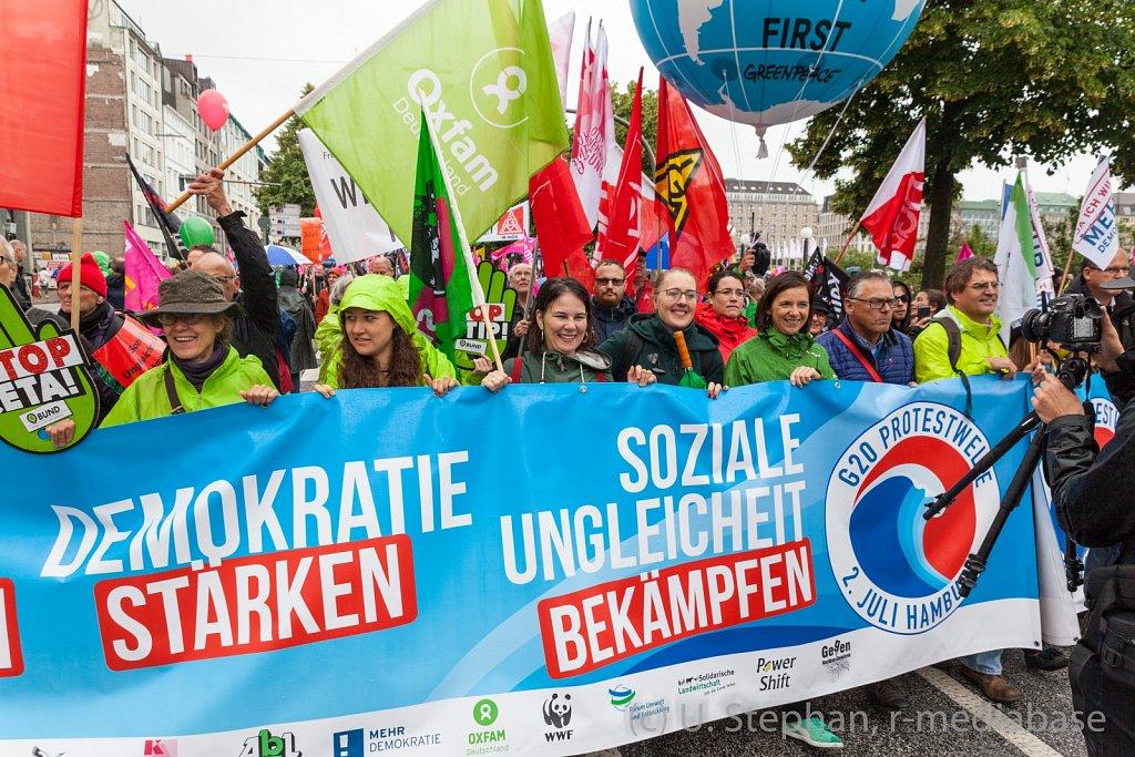 Proteste gegen den G20 Gipfel in Hamburg