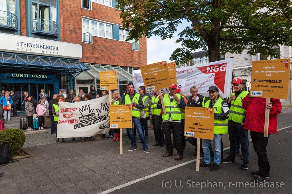 Warnstreiks im Hotel und Gaststättengewerbe in Kiel