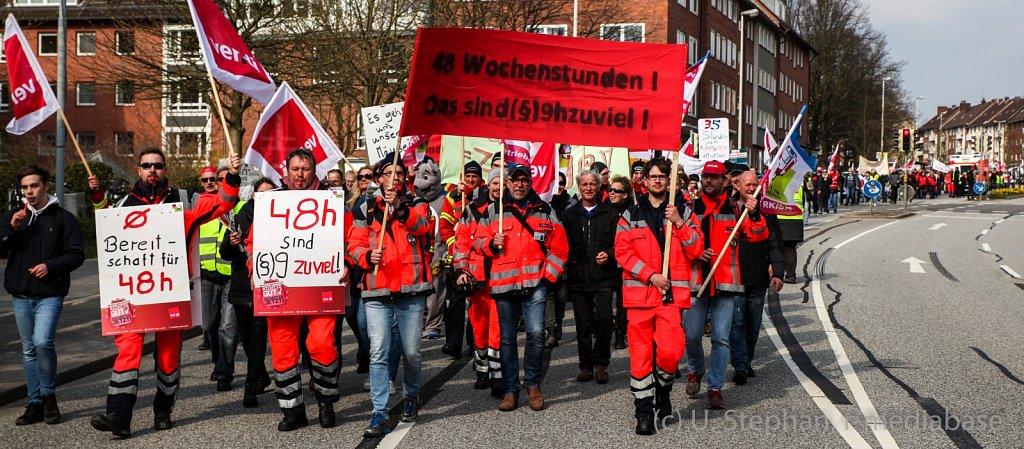 Streik im öffentlichen Dienst in Kiel