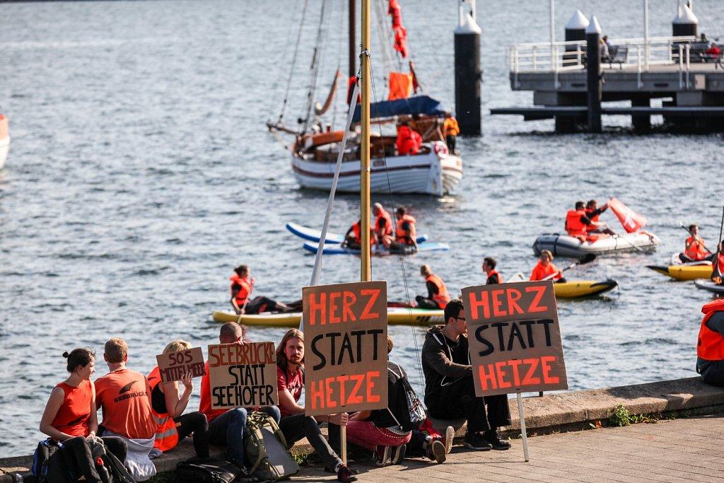 Seebrücke - Aktionstag in Kiel