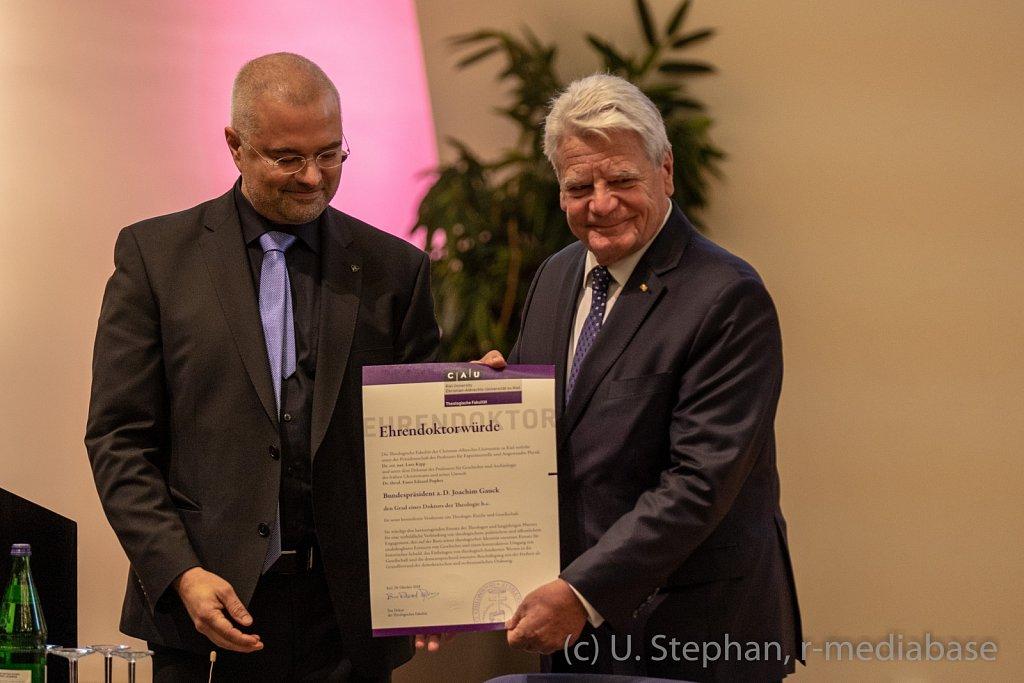 Verleihung der Ehrendoktorwürde durch die CAU Kiel an den Bunde