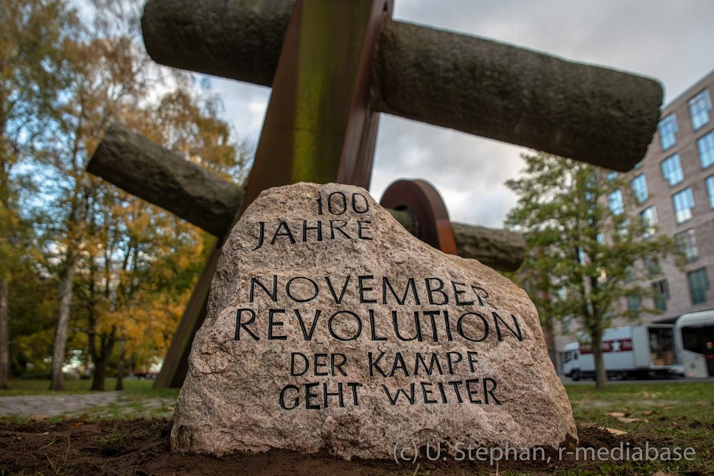 Gedemkstein zum 100. Jahrestag der Novemberrevolution in Kiel