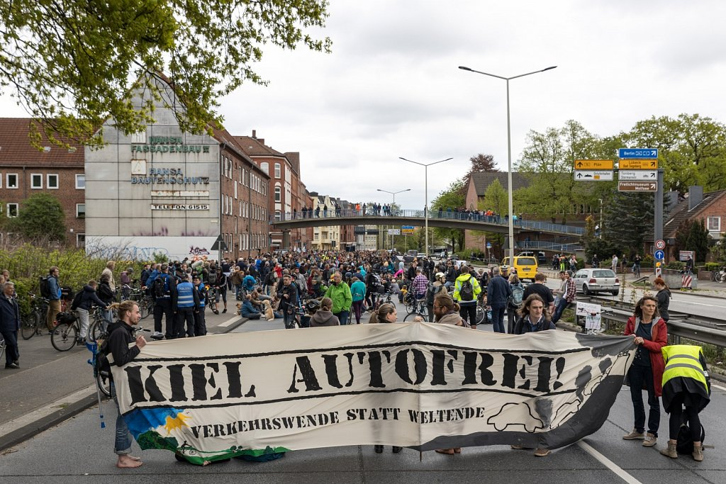 Demonstration Kiel Autofrei