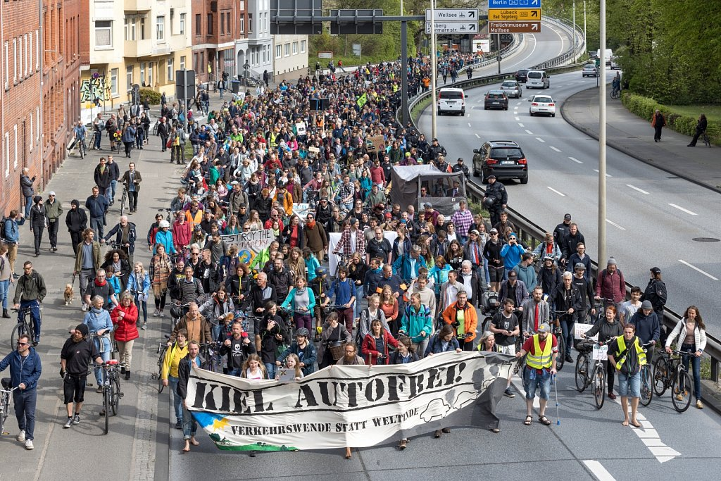 Demonstration Kiel Autofrei