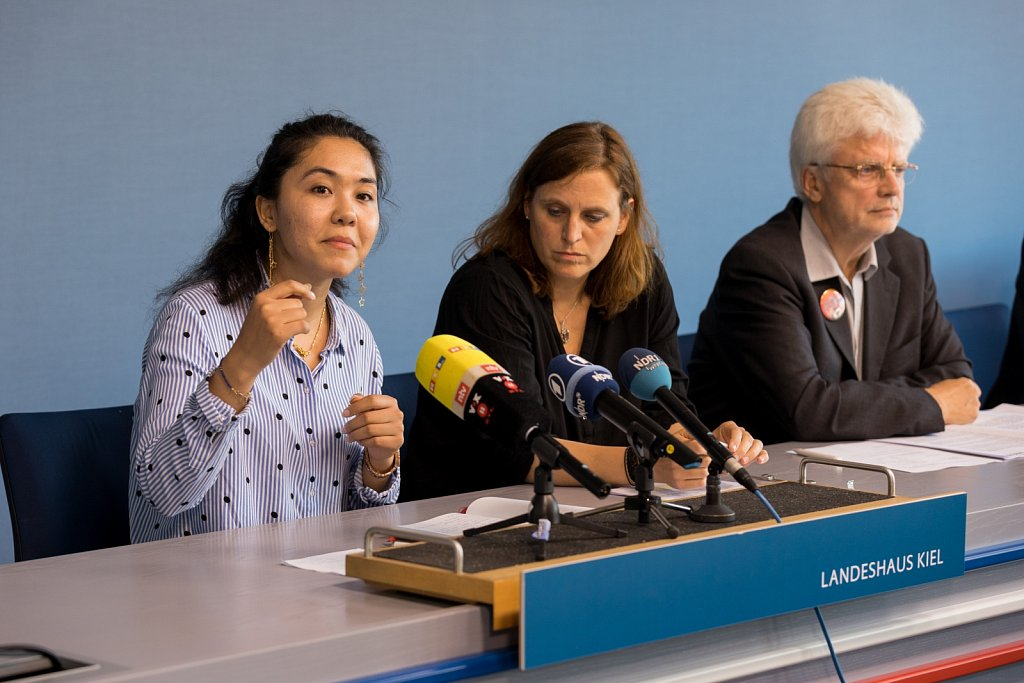 Pressekonferenz im Kieler Landeshaus
